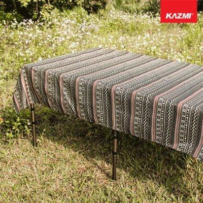 丹大戶外【KAZMI】彩繪民族風防水桌巾 K8T3Z003