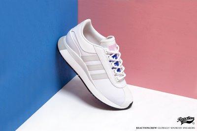 【REACTION】ADIDAS SL ANDRIDGE 全白 粉紅藍標 小白鞋 慢跑鞋 EG6846 女生款