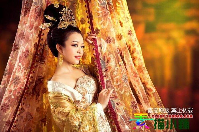 古色古香中國風❈現貨❈攝影古裝/唐裝性感嫵媚貴妃裝/描新妝[限量版]