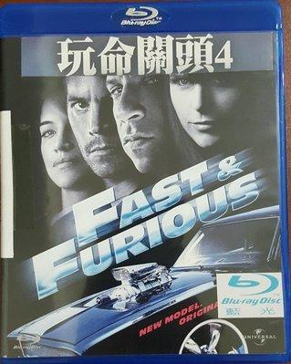 二手BD/DVD專賣店【玩命關頭4 BD】台灣正版二手藍光光碟