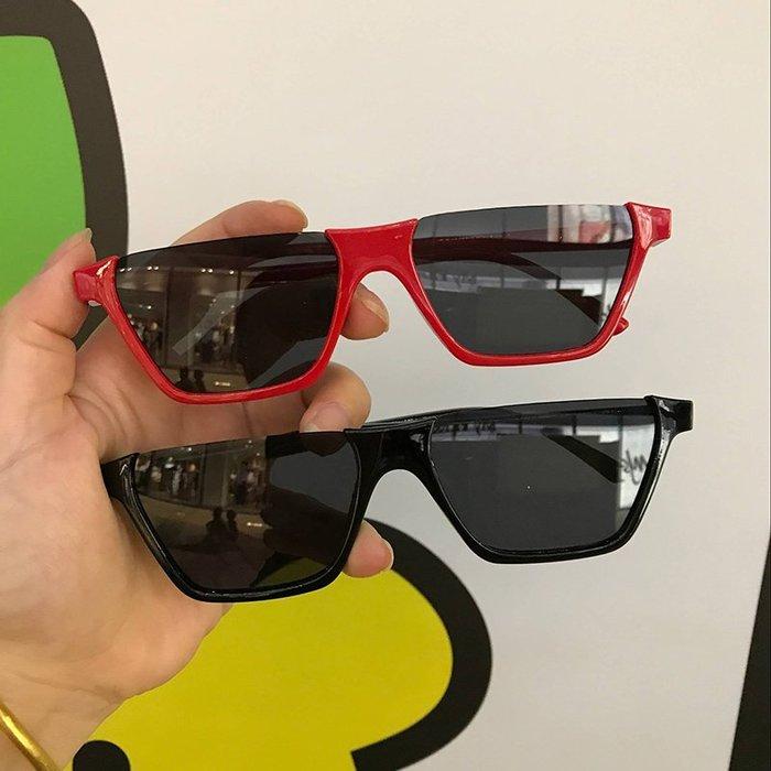 任意滿三件免運 全場折扣折 歐美太陽鏡街拍凹造型半框眼鏡網紅同款復古小方框原宿小眾款墨鏡