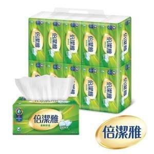代購~7/30(箱購899含運)倍潔雅柔軟舒適抽取式衛生紙150抽X10包X8串(共80包)台灣製造.另有84包/箱