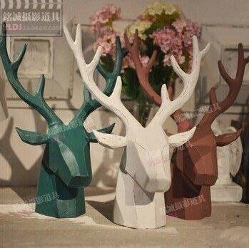 【優上精品】擺件 鹿頭 服裝店櫥窗裝飾道具 陳列道具 咖啡館樹脂裝飾品(Z-P3204)