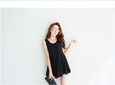 新款百褶連衣裙(黑色) J-12624
