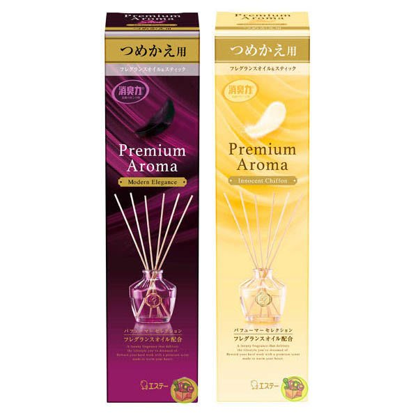 【JPGO】日本製 雞仔牌 消臭力 Premium Aroma New居家香氛室內擴香瓶的補充罐