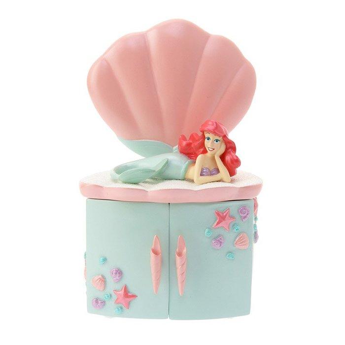 小美人魚愛麗兒公仔景品造型收納盒 含手拿鏡子 小物收納造型櫃 日本迪士尼商店正版~彤小皮的遊go世界