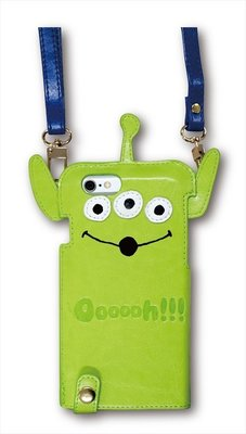 尼德斯Nydus~* 日本正版 迪士尼 玩具總動員 三眼怪 可掛式 皮套 手機殼 4.7吋 iPhone 6