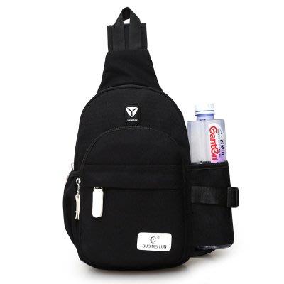 側背包新款胸包布背包戶外運動騎行包胸前旅遊男女包正韓女單肩挎包