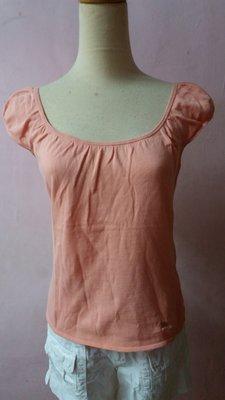 BURBERRY 藍標 圓領公主袖上衣-粉橘色 (出清特價)