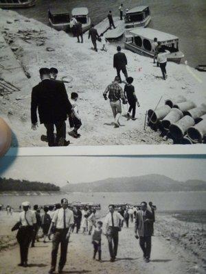 190825~疑似是~石門水庫!!日月潭!!小船~相關特殊(一律免運費---只有各一張)老照片~01