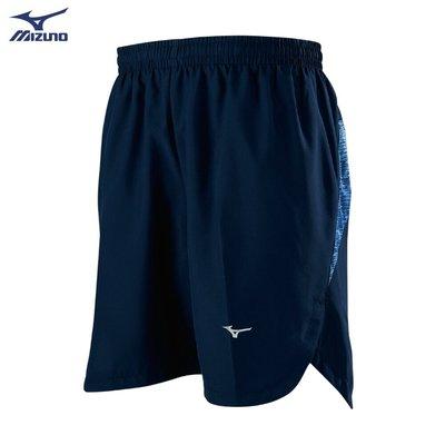 棒球世界全新【MIZUNO 美津濃】男款路跑短褲 J2TB955214(藏藍)特價