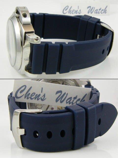 錶帶屋 高級矽膠錶帶24mm有效替代同規格panerai IWC及各品牌潛水 運動手錶