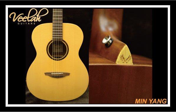 *民揚樂器*/ Veelah V1-OME 面單 側背桃花心 電木吉他 /GSP優良樂器商