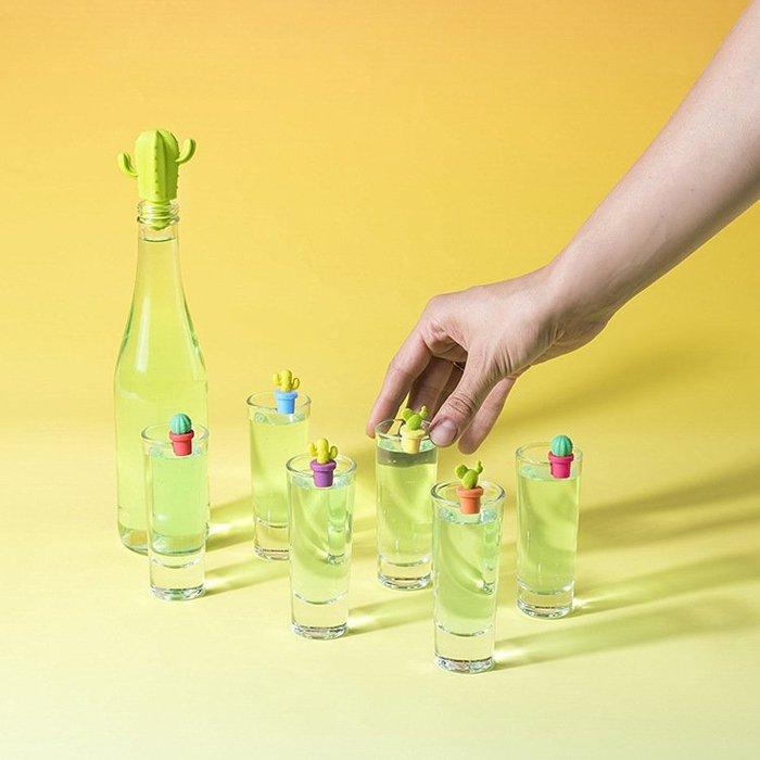仙人掌造型 矽膠瓶塞 紅酒塞