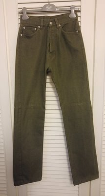 W29 原價三萬多 JIL SANDER 軍綠色牛仔褲