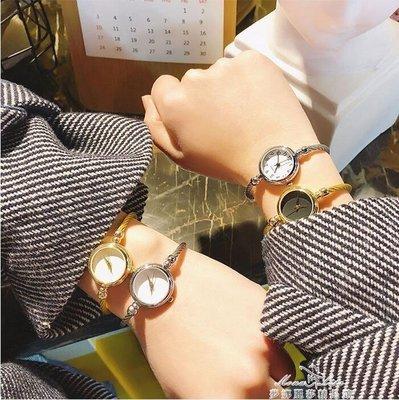 「免運」日系卡通可愛簡約手鐲圓形手錶復古百搭學生休閒少女小巧氣質腕錶 『菲菲時尚館』