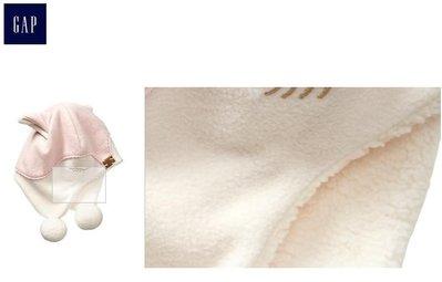 gap 女童粉色狐狸造型保暖帽 (2-5歲) 550含運