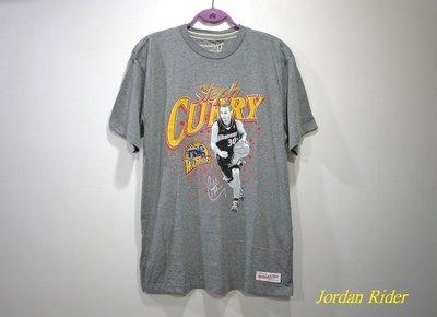 喬丹騎士 Mitchell & Ness M&N NBA Stephen Curry 柯瑞 灰色 短袖T恤 金州 勇士隊