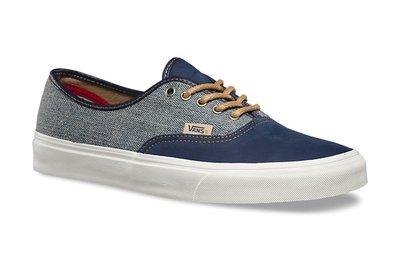 CHIEF' VANS 美版 AUTHENTIC 藍色 頂級皮革/紡織 緩衝鞋墊 設計款 US10 28cm 最後一雙
