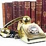 百寶軒 20世紀英國進口復古電話機金色機身功能正常 ZG1711