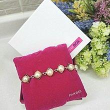PINK BOX 珍珠手鏈 (全新連盒) 全長18cm 北角 MTR 交收 or 郵寄 Pearl Bracelet