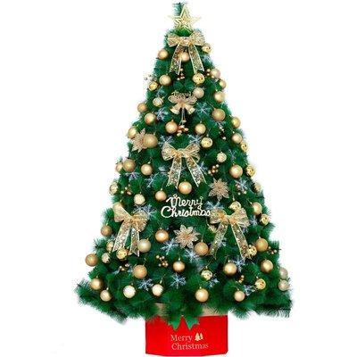 松針聖誕樹1.5米套餐仿真加密聖誕節裝飾彩燈發光1.8米聖誕樹家用