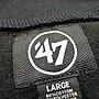 Cover Taiwan 官方直營 47Brand 半拉 NFL 匹茲堡鋼人隊 大學T 長袖 嘻哈 美式 復古 黑色