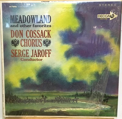 §小宋唱片§美版DECCA早期版/MEADOWLAND/Don Cossack Choir/Serge Jaroff
