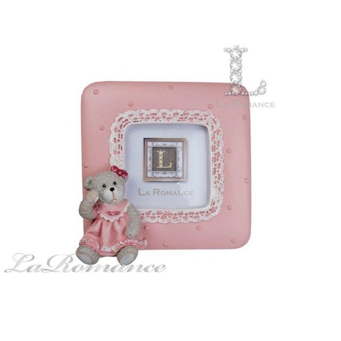 【義大利 Cupido & Company 特惠系列】 粉色女生小熊方形2 x 2相框 / 泰迪熊 / 童趣動物
