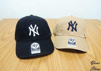 【Your Store】美牌 47Brand 2019新款 Yankees 洋基隊 NY Clean Up 老帽 兩色