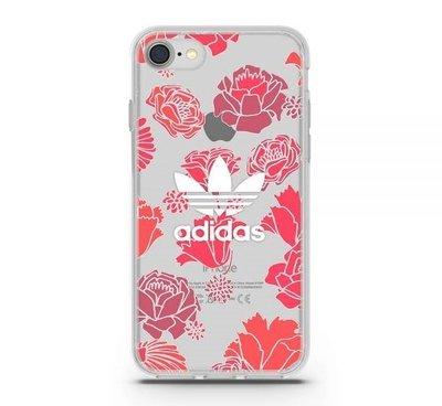 adidas Originals 4.7吋 iPhone 7/8/i7/i8 玫瑰 TPU 透明殼 彩繪 26333