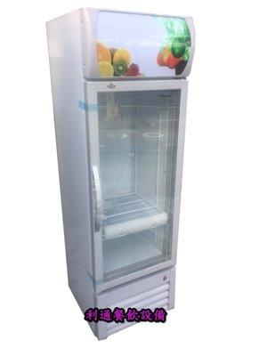 《利通餐飲設備》1門-玻璃冰箱.冷藏.(除霧型.208L).110v(LED照明) 冷藏展示冰箱 1門玻璃冰箱