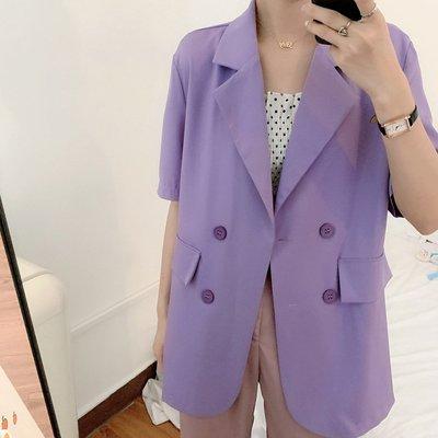 韓式夏季透氣穿搭罩衫 男友風 寬鬆防曬涼爽薄款西裝外套S~5XL 艾爾莎【TAE8815】