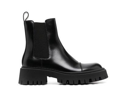 [全新真品代購-SALE!] BALENCIAGA 黑色皮革 厚底 靴子 (巴黎世家) TRACTOR