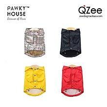 QZee Pawky house有爪狗狗雨衣小中大型犬泰迪法斗柯基防水披衣服