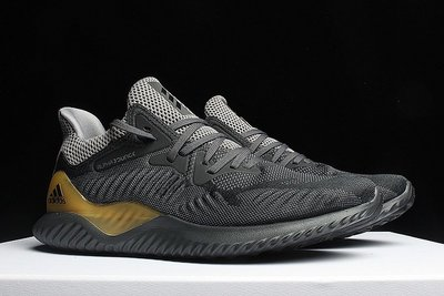 D-BOX  Adidas Alpha Bounce AlphaBounce 3代 運動休閒 灰金 跑步鞋 中筒