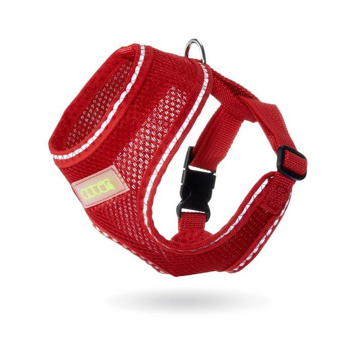 SNOW的家-寵愛物語Doter反光安全輕透胸背衣-紅L(80321895