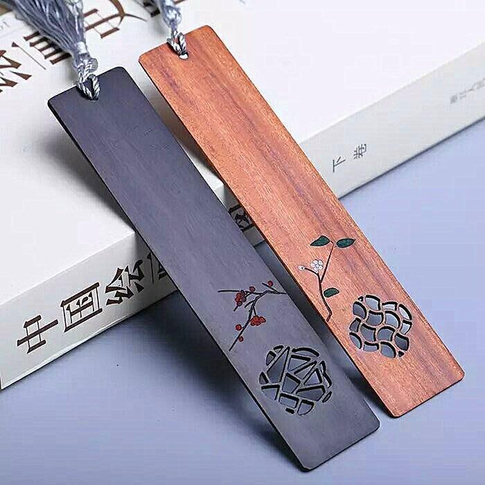 5C精選@創意書簽古典木質中國風精美復古高檔公司商務禮品