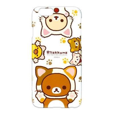 尼德斯Nydus~* 日本 San-X 拉拉熊 懶熊 牛奶妹 小雞 透明硬殼 4.7吋 手機殼 iPhone 6/6S