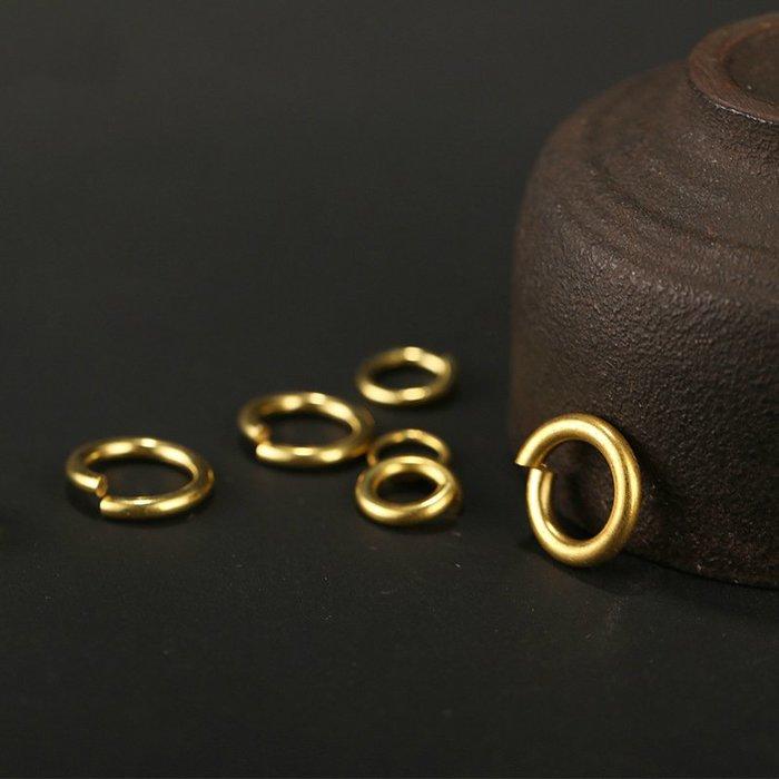 (現貨)G-080-3 加粗款 4.0x20mm 純銅線切割開口銅圈 黃銅平口圓環切口C型扣馬蹄扣財布配飾連接環扣DIY