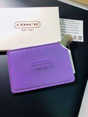 8a0b9ced4c31 日本限定COACH卡片型不鏽鋼拉絲化妝鏡-含卡套-摔不破