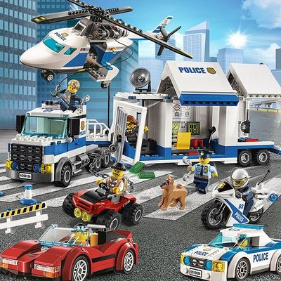 積木樂高城市系列警系局拼裝積木玩具警察局消防局山地警特男孩子軍事悠悠