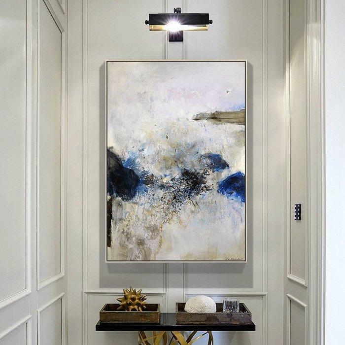 ABOUT。R 趙無極抽象裝飾畫現代客廳壁畫豎版玄關畫走廊掛畫油畫風格(11款可選)