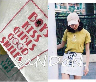 SaNDoN x SLY 夏季新入荷 官網預約販售 刺繡植物精緻逗趣短tee tshirt 短版上衣  170606