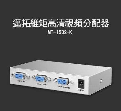 [佐印興業] 邁拓維矩 二路VGA視頻分配器 VGA高清影像分配器 二口VGA分屏器 一進二出VGA分配器