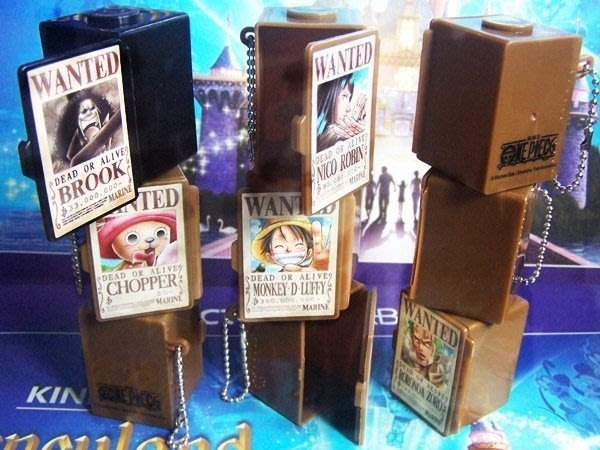海賊王 航海王 積木式疊疊盒 收納盒 可當吊飾 小禮物 全新代理版