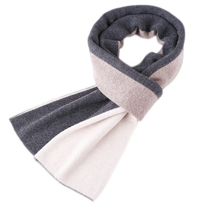 圍巾 羊毛 披肩-加厚拼色色塊針織男配件4色73wh42[獨家進口][米蘭精品]