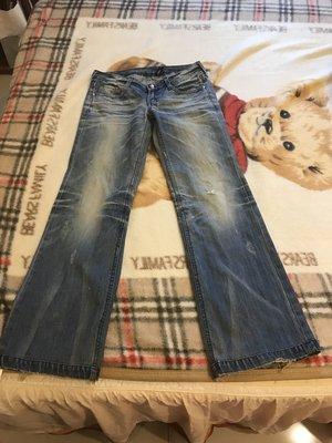 二手牛仔時髦喇叭褲