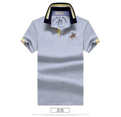 時尚服飾 新款夏季絲光棉t恤男短袖翻領商務青年寬松大碼POLO衫男士體恤