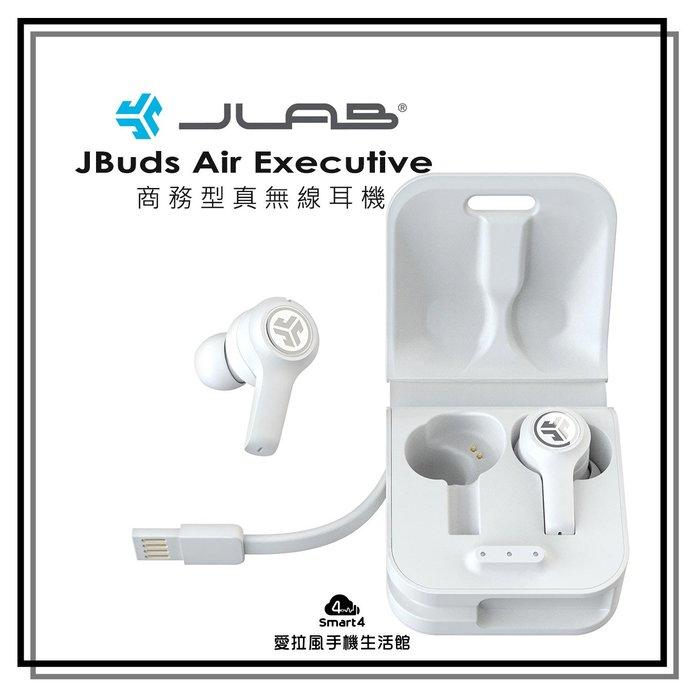 【台中愛拉風│真無線藍芽耳機專賣】白色 商務JLab JBuds Air Executive C3降噪通話 觸控式
